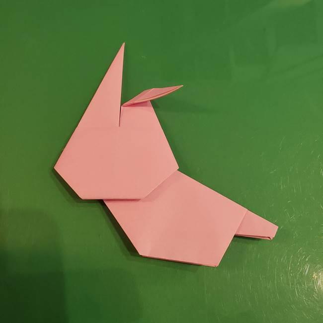 うさぎの折り紙 簡単で幼稚園年長からOK!折り方作り方③完成(4)