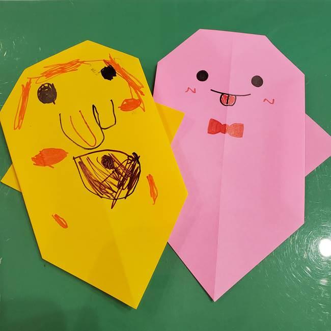 おばけの折り紙の作り方は簡単!年少や年中のハロウィン制作にも♪