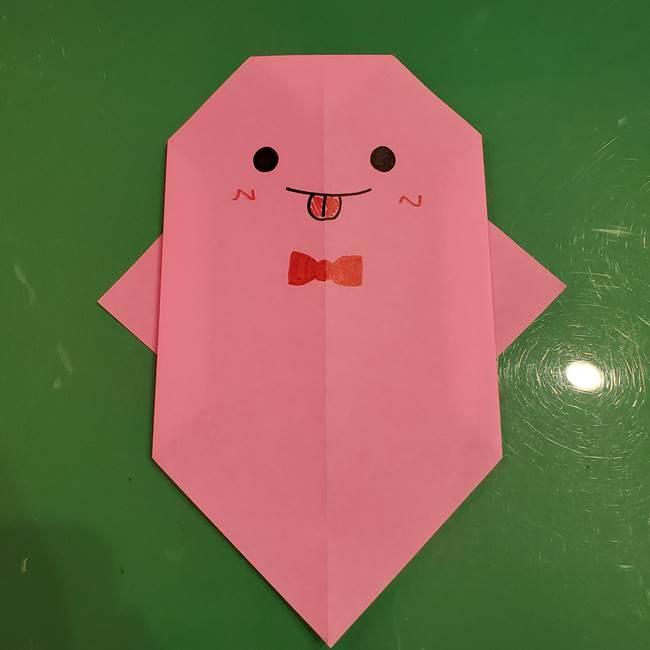 おばけの折り紙 簡単に3歳児も折れる作り方折り方②(1)