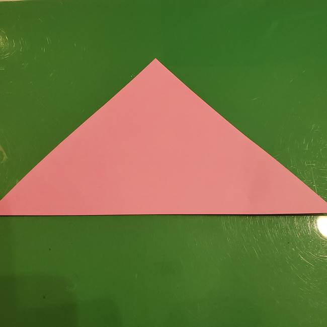 おばけの折り紙 簡単に3歳児も折れる作り方折り方(2)