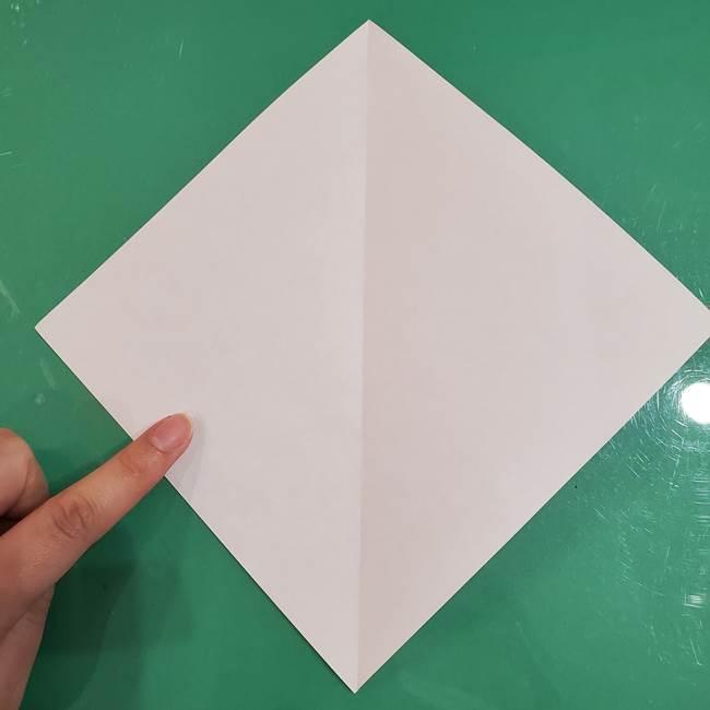 おばけの折り紙 簡単に3歳児も折れる作り方折り方(3)