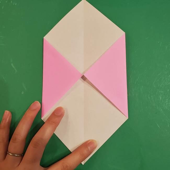 おばけの折り紙 簡単に3歳児も折れる作り方折り方(4)