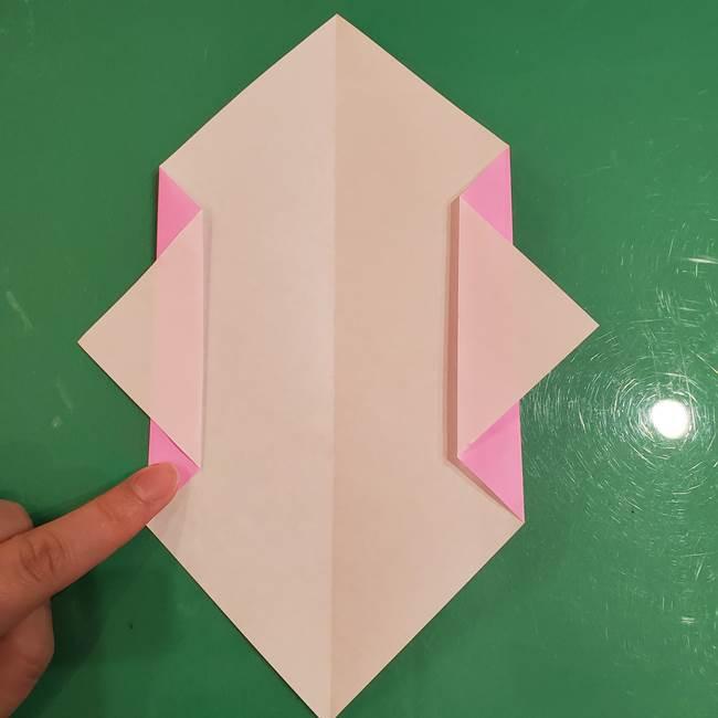 おばけの折り紙 簡単に3歳児も折れる作り方折り方(5)