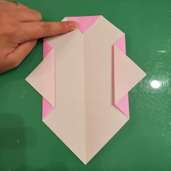 おばけの折り紙 簡単に3歳児も折れる作り方折り方(6)
