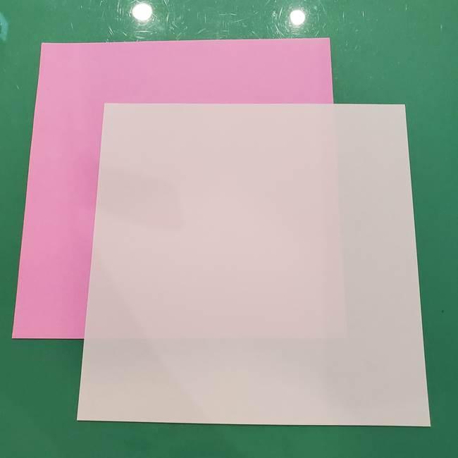 お月見たぬきの折り紙リースの作り方④月見団子(1)