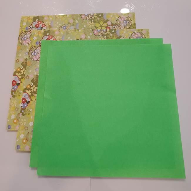 お月見たぬきの折り紙リースの作り方*用意するもの(1)