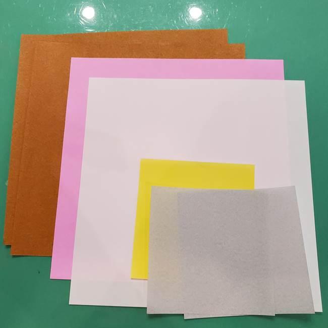お月見たぬきの折り紙リースの作り方*用意するもの(2)