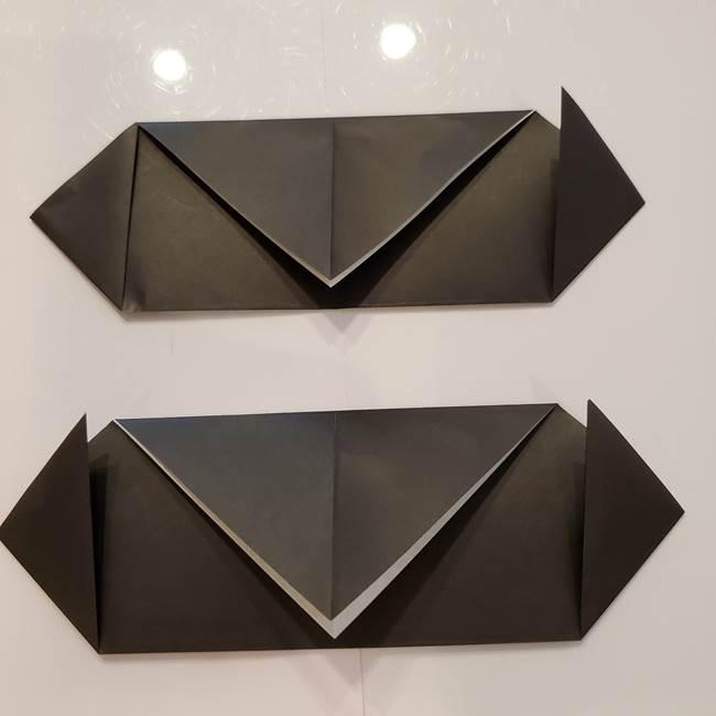 お月見の折り紙「うさぎの餅つき」簡単なリースの折り方作り方①リース(3-2)