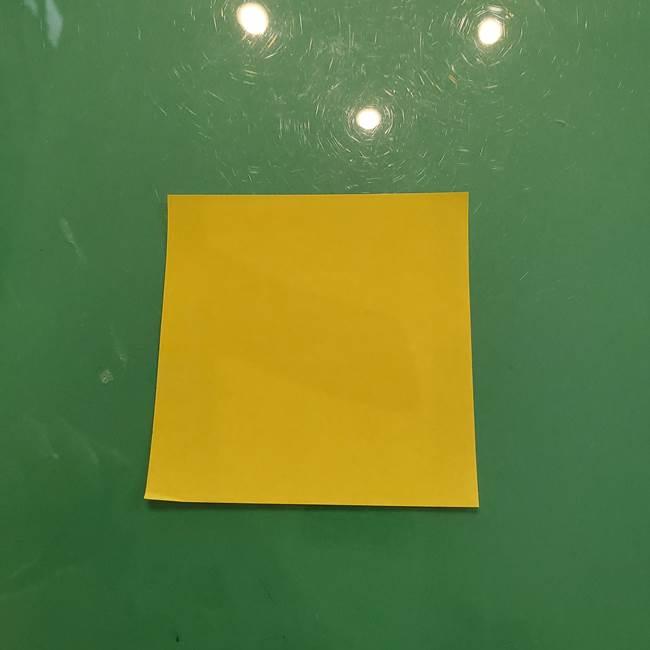 お月見の折り紙「うさぎの餅つき」簡単なリースの折り方作り方③月(1)