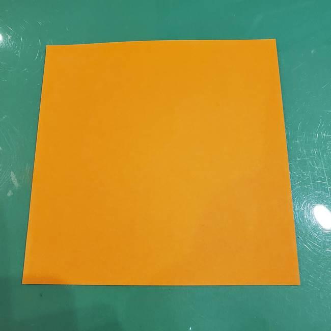 かぼちゃの折り紙は簡単に3歳児でも作れる!用意するもの1