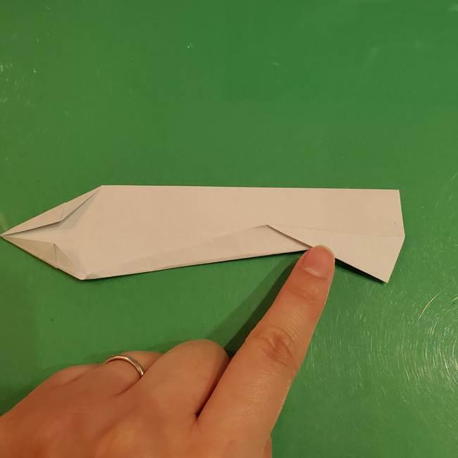 さんまの折り紙の簡単な折り方作り方(15)