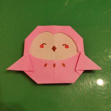 すみっこぐらし ふくろうの折り紙★かわいいキャラを簡単に作れる折り方作り方