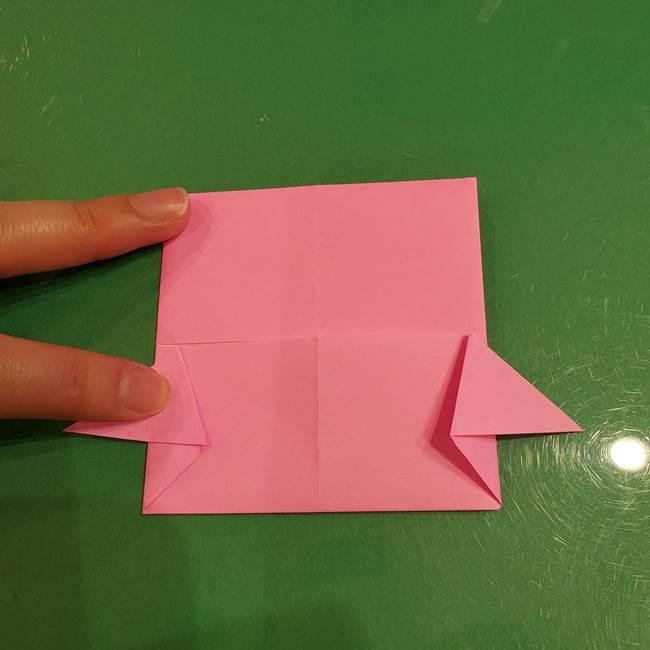 すみっこぐらし ふくろうの折り紙の折り方作り方(13)