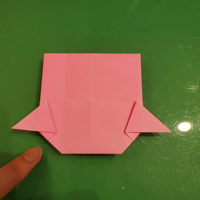 すみっこぐらし ふくろうの折り紙の折り方作り方(14)