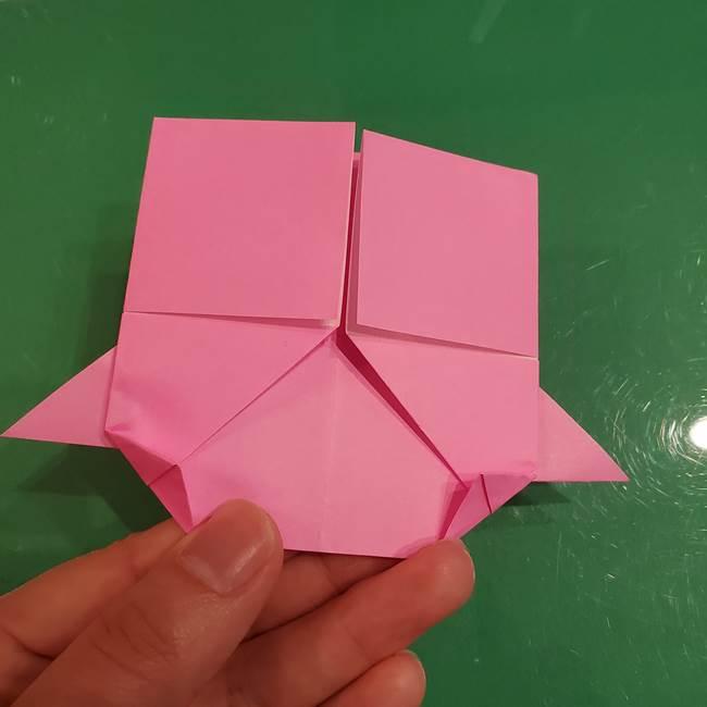 すみっこぐらし ふくろうの折り紙の折り方作り方(15)