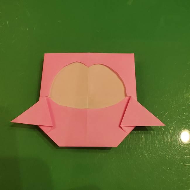 すみっこぐらし ふくろうの折り紙の折り方作り方(17)