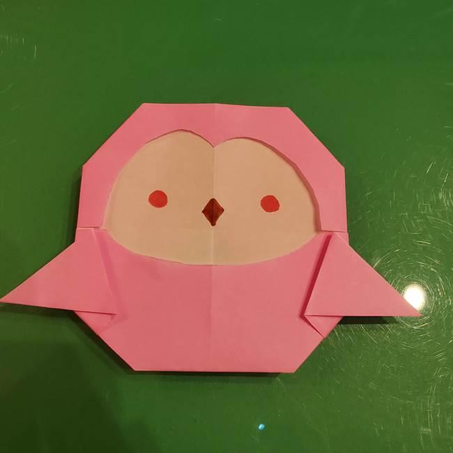 すみっこぐらし ふくろうの折り紙の折り方作り方2(1)