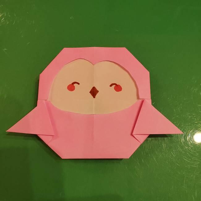 すみっこぐらし ふくろうの折り紙の折り方作り方2(2)