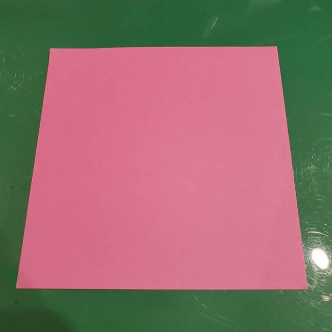 すみっこぐらし ふくろうの折り紙*準備するもの1