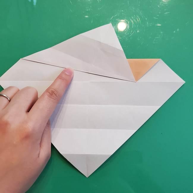 たぬきの折り紙の簡単な折り方作り方(体と顔)①(10)