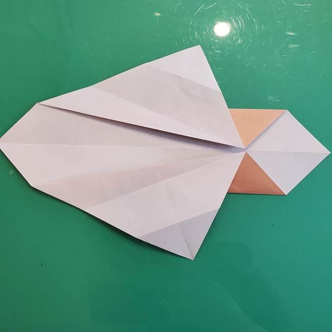 たぬきの折り紙の簡単な折り方作り方(体と顔)①(11)