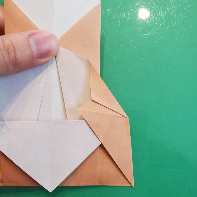たぬきの折り紙の簡単な折り方作り方(体と顔)①(17)
