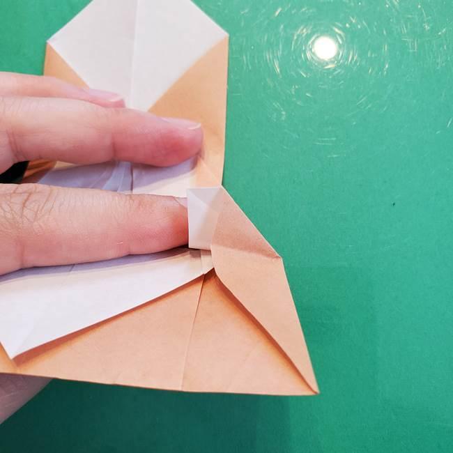 たぬきの折り紙の簡単な折り方作り方(体と顔)①(22)