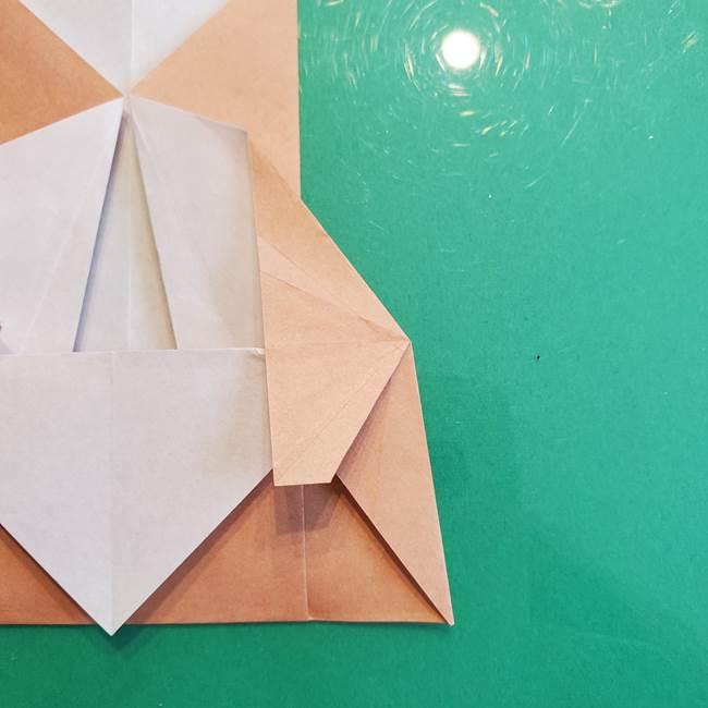たぬきの折り紙の簡単な折り方作り方(体と顔)①(23)