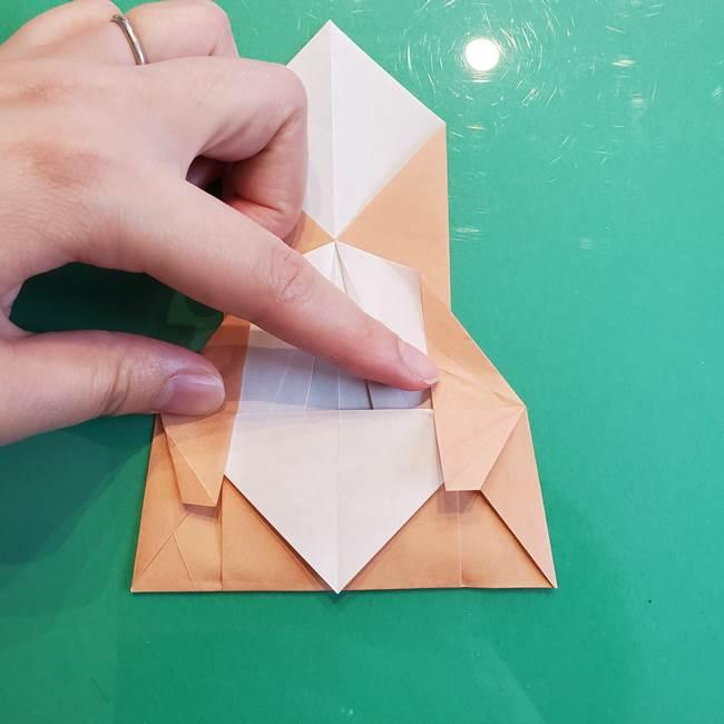 たぬきの折り紙の簡単な折り方作り方(体と顔)①(24)