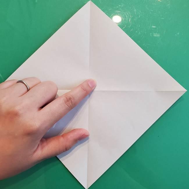 たぬきの折り紙の簡単な折り方作り方(体と顔)①(4)