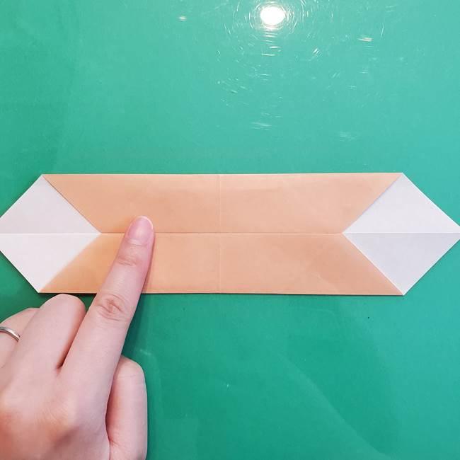 たぬきの折り紙の簡単な折り方作り方(体と顔)①(6)