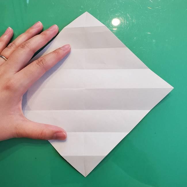 たぬきの折り紙の簡単な折り方作り方(体と顔)①(7)
