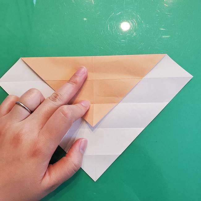 たぬきの折り紙の簡単な折り方作り方(体と顔)①(8)