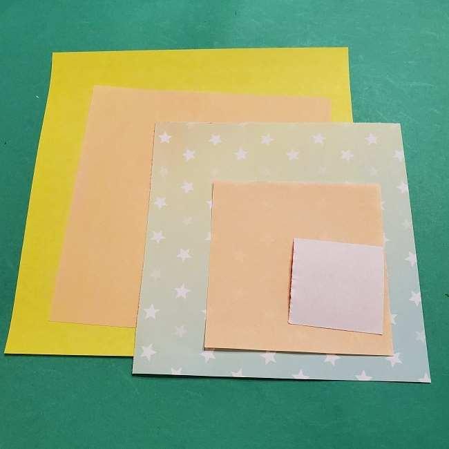 スヌーピーのサリー(全身)の折り紙*用意するもの (1)
