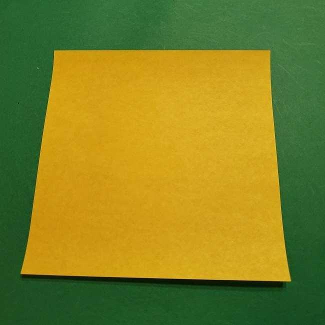 スヌーピーの女の子サリー(全身)の折り紙*折り方作り方①髪の毛 (1)