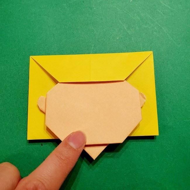 スヌーピーの女の子サリー(全身)の折り紙*折り方作り方①髪の毛 (11)