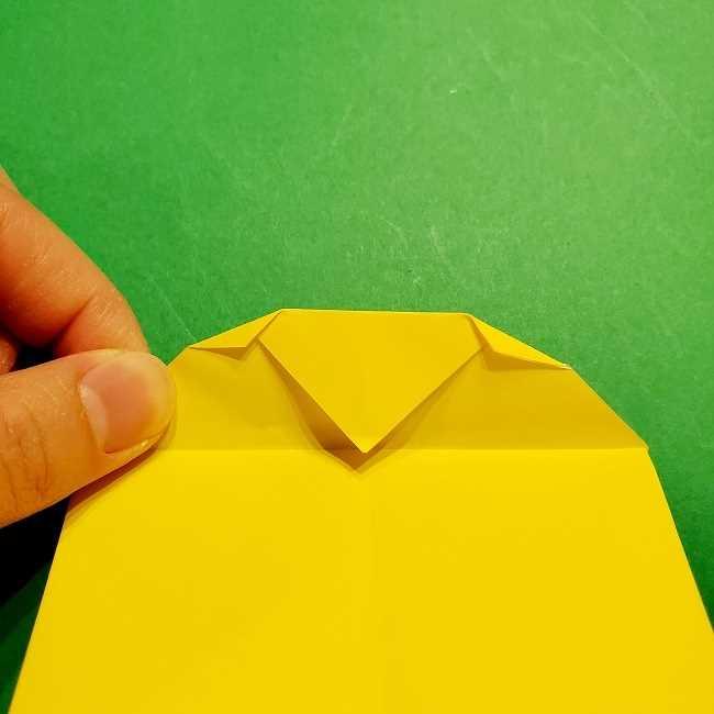 スヌーピーの女の子サリー(全身)の折り紙*折り方作り方①髪の毛 (12)