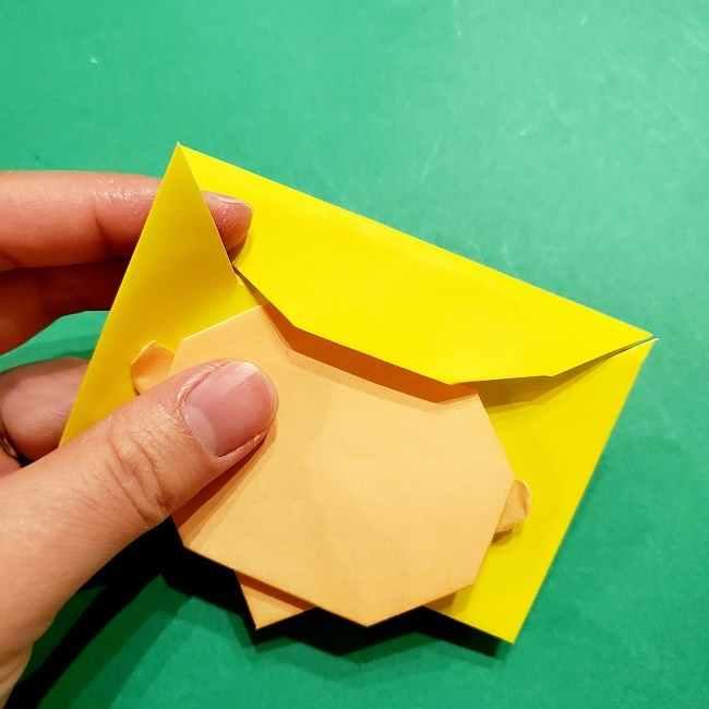 スヌーピーの女の子サリー(全身)の折り紙*折り方作り方①髪の毛 (13)