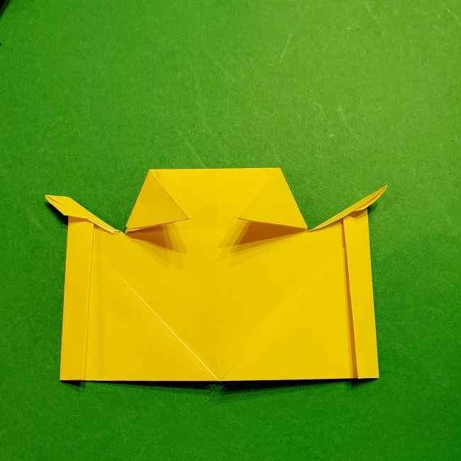 スヌーピーの女の子サリー(全身)の折り紙*折り方作り方①髪の毛 (15)