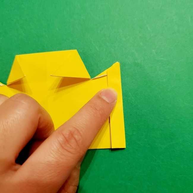 スヌーピーの女の子サリー(全身)の折り紙*折り方作り方①髪の毛 (17)