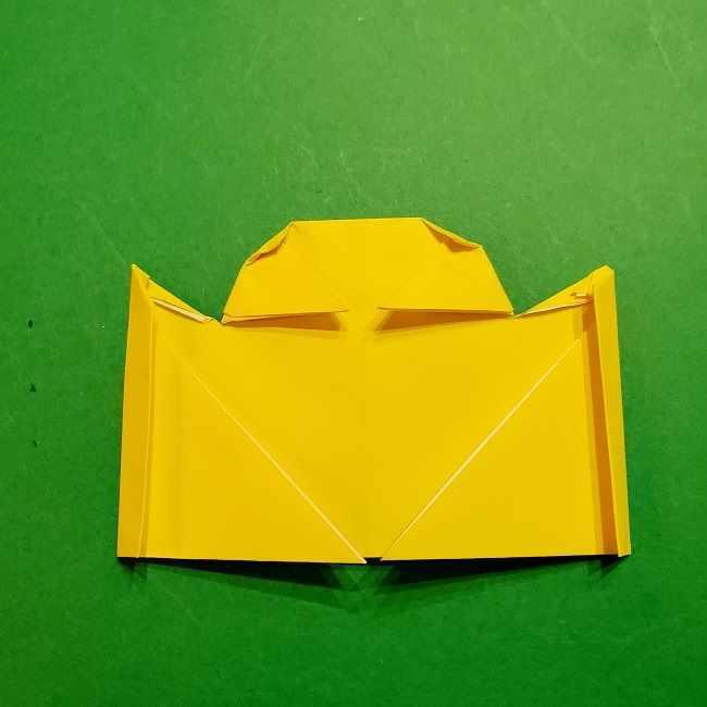 スヌーピーの女の子サリー(全身)の折り紙*折り方作り方①髪の毛 (19)