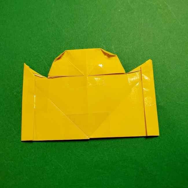 スヌーピーの女の子サリー(全身)の折り紙*折り方作り方①髪の毛 (20)