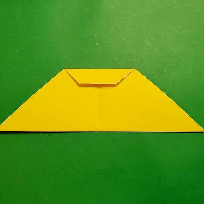 スヌーピーの女の子サリー(全身)の折り紙*折り方作り方①髪の毛 (6)