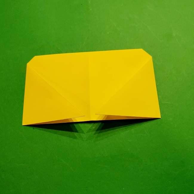 スヌーピーの女の子サリー(全身)の折り紙*折り方作り方①髪の毛 (8)