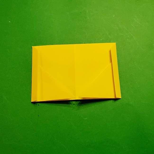 スヌーピーの女の子サリー(全身)の折り紙*折り方作り方①髪の毛 (9)