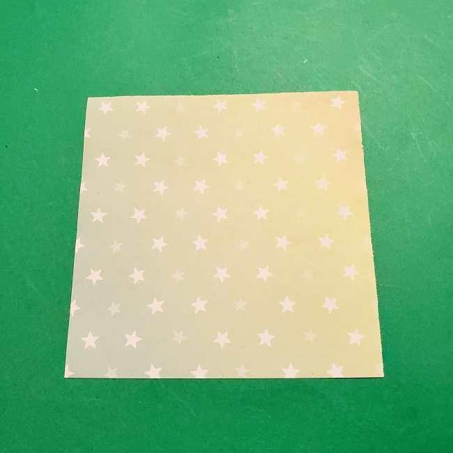スヌーピーの女の子サリー(全身)の折り紙*折り方作り方②ワンピース (1)