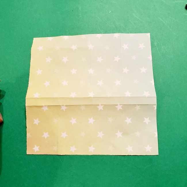 スヌーピーの女の子サリー(全身)の折り紙*折り方作り方②ワンピース (11)