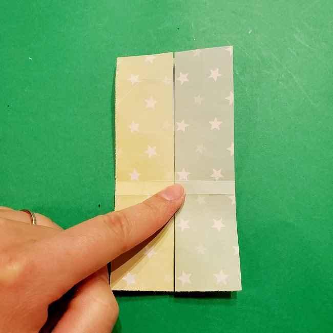 スヌーピーの女の子サリー(全身)の折り紙*折り方作り方②ワンピース (13)