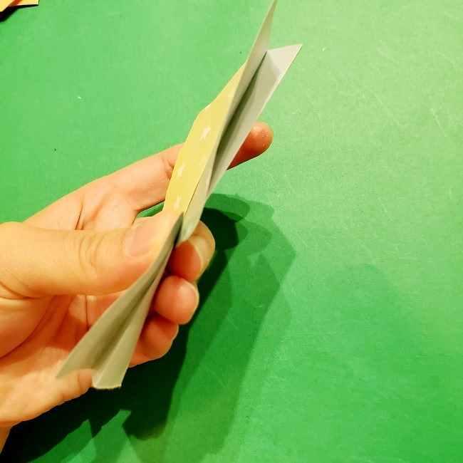 スヌーピーの女の子サリー(全身)の折り紙*折り方作り方②ワンピース (15)