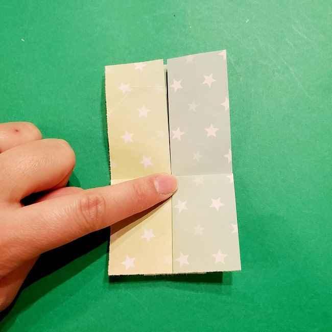 スヌーピーの女の子サリー(全身)の折り紙*折り方作り方②ワンピース (16)